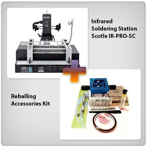Infrared BGA Rework Station Scotle IR-PRO-SC + Reballing Accessories Kit