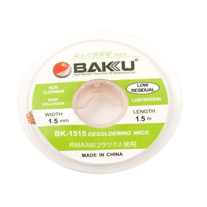 Cinta desoldadoras BAKU BK 1515 , (Ancho) 1.5 mm, (L) 1.5 m