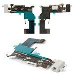 Cable flex para celular Apple iPhone 5S, del conector de carga, del conector de auriculares, blanco, con micrófono, con componentes