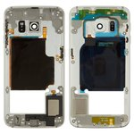 Parte media de carcasa Samsung G925F Galaxy S6 EDGE, blanco