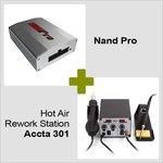 Nand Pro + Estación de soldadura de aire caliente Accta 301A (220 V)