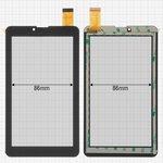 "Сенсорный экран China-Tablet PC 7""; Pixus Touch 7 3G; Prestigio MultiPad Wize (PMT3147), MultiPad Wize (PMT3708), 7"", 184 мм, 104 мм, 30 pin, тип 2, емкостный, черный, #ZYD070-237-FPC V01"