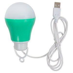 USB LED-светильник 5 Вт (холодный белый, корпус зеленый, 5 В, 450 лм)