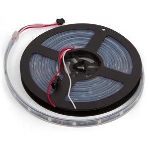 Світлодіодна стрічка RGB SMD5050, WS2811 (чорна, з управлінням, IP67, 12 В, 60 діодів/м, 1 м)