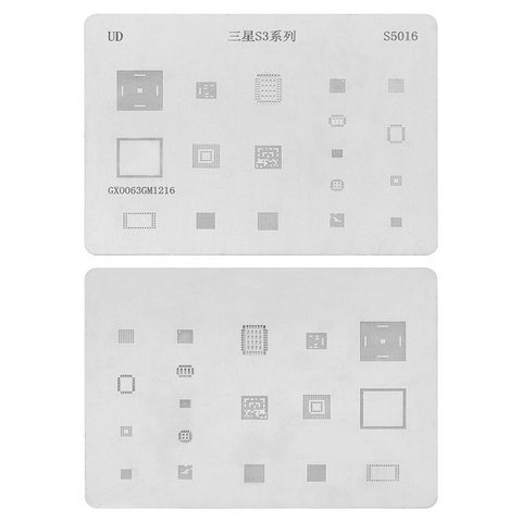 BGA Stencil S5016 for Samsung I9300 Galaxy S3 Cell Phone, 18 in 1