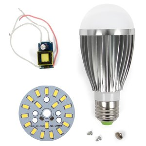LED Light Bulb DIY Kit SQ-Q03 9 W (cold white, E27), Dimmable